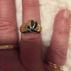 Sapphire 14K Gold Ring